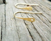 Copper, Oxidized Copper, NuGold or Sterling Silver hooks with a 1.25 mm hole