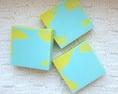 Milk and Honey scented Aqua and Sunny Yellow in 3 Butters Soap