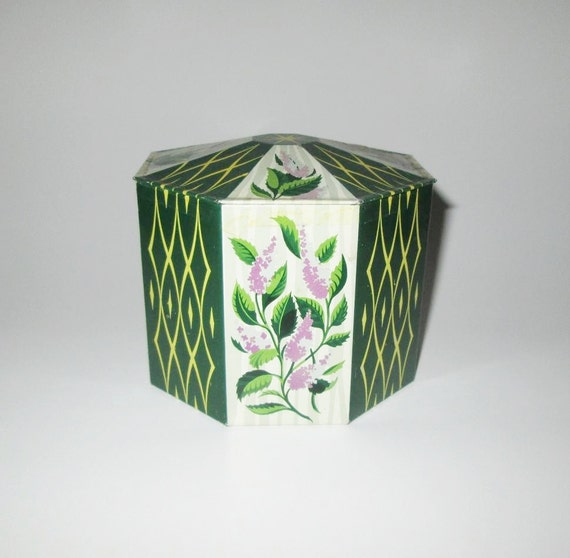 Vintage Candy Tin Sharps Extra Strong Mints With Harlequin, Floral & Starburst Design By Edward Sharp And Sons