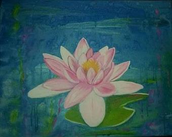 16x20 lotus flower original painting