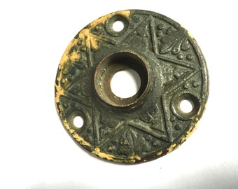 Awesome Antique 6 pointed star Door plate