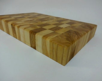 Heavy Duty Chopping Butcher Block Cherry Hardwood - OOAK - Sustainable Harvest -  Timber Green Woods