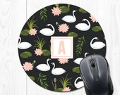 Personalized Gift for Women Mouse Pad Mousepad Monogram Mouse Pad Floral Mouse Pad Floral Mousepad Monogram Mousepad Cute Mousepad Round