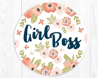 Mouse Pad Mousepad Gift for Coworker Gift for Boss Girl Boss Gift for Her Floral Girlfriend Quote Mouse Pad Cute Mousepad Office Gifts