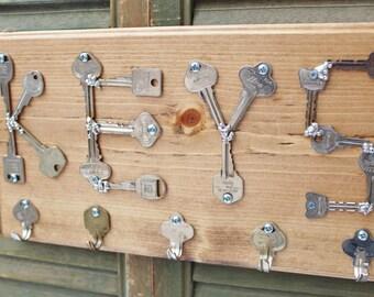 Key Rack - Wood Key Rack - Keys