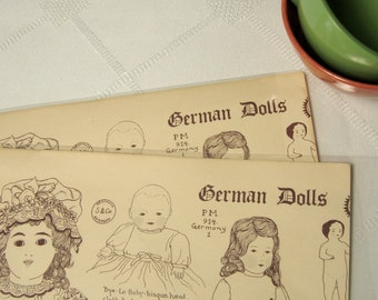 German Dolls Identification Poster by Sandy Williams 1976