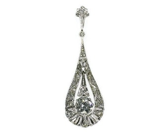 Diamond and White Gold Wedding Pendant ca.1920