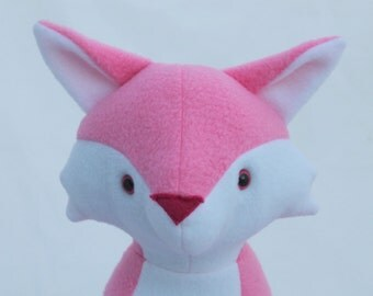Pink Plush Fox toy