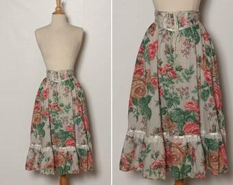vintage Gunne Sax rose skirt