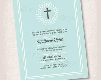 Christening Baptism Baby Dedication Printable Invitation