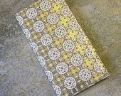 4 Pocket Kraft Folder Midori Travelers Notebook Fauxdori Gold Foil Black and White Tile