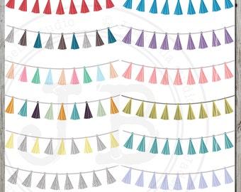 Bunting, Tassel Bunting clipart, Digital file, Tassel Garland,Bunting Banner, Party bunting