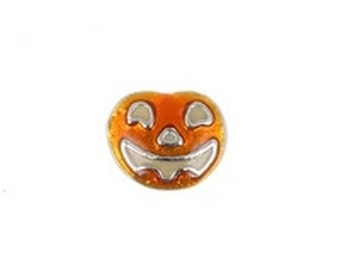 Floating Charm-Pumpkin-Metallic-Halloween-Thanksgiving-for Floating Glass Lockets-Free Shipping