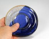 Ceramic spoon rest, pottery spoon rest, stoneware spoon dish, pottery spoon plate, ceramic spoon holder, pottery spoon holder blue glaze