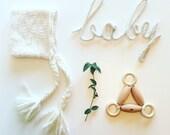 White Bonnet in soft merino wool yarn, unisex, size newborn to 4T - made to order