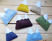 RESERVED LISTING for Sarah - Mountain garland, felt, home decor, bunting wall decor