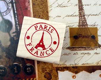 Paris Eiffel Tower Stamp (1.2 x 1.2in)