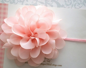 Peach Baby Headband, Peach Headband, Peach Flower Headband, Baby Headband, Newborn Headband, Toddler Headband, Girls Headband
