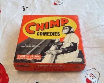 Vintage Chimp Comedies Film 8mm 16mm Chimpanzee
