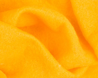 Extra fine merino Prefelt, Egg Yolk Yellow 19 microns, 59 in. wide