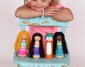 JUMBO Peg Doll - Extra Large 6.2 Inch Peg Doll - Have Any Zooble Peg Doll Super Sized - The Original Jumbo Peg