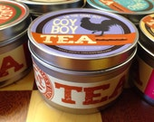Coy Boy loose Chai tea blend: full-sized canister