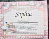 """Personalized Your Child's NAME MEANING  Gift """" It's A Girl""""  8.5 X 10  ships in 24hrs"""