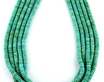 Mexican Turquoise Button Beads Green Aqua 5mm New World Gems