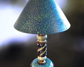 Kashmiri Lamp/ Lacquer Lamp/Papier Mache Lamp/Vintage Lamp/Handmade Lamp/Bohemian Lamp/Indian Lamp/ Antique Lamp/Painted Lamp/Vintage Light