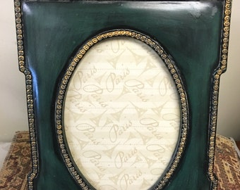 Dark Green Ornate Plastic Frame