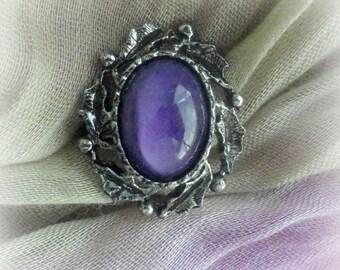 Gothic Purple Ring Gothic Jewelry Dark Purple Victorian Ring Gothic Ring Halloween Jewelry Victorian Vampire Ring Fantasy Jewelry