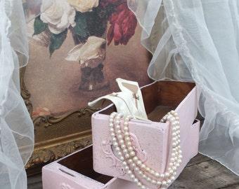 Vintage Chic Storage, Pink Sewing Machine Drawers, Pink