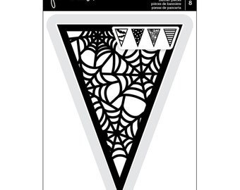 Pebbles BOO! Collection LAYERED Die-cut Banner Pennant Pieces