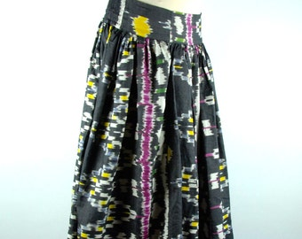 Beautiful Ikat Dyed Broom Skirt by Calypso St. Barth, Size SMALL, DEADSTOCK NWT, Mint