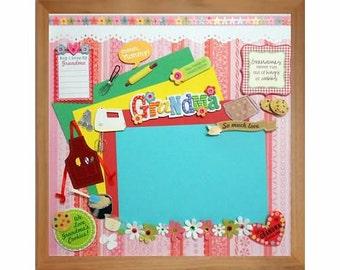 LOVE GRANDMAS COOKIES Memory Album Page (Natural Veneer Shadow Box Frame Sold Separately)