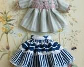 Smocking blouse and skirt set for blythe