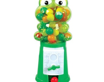 Personalized Frog  Gumball Machine Party Favor- Princess and the frog theme-1st Birthdays, Baby Showers, Christenings, Communions