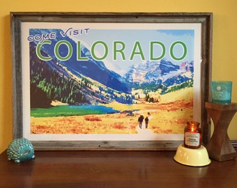 Come Visit Colorado - Poster