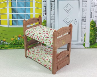 MAPLE TOWN STORY Bunk Beds, Plastic, 1980's, Vintage Play Set, Miniature Furniture