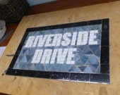 RESERVED LISTING for Kenda Ward - NYC Subway Mosaic Glass Install / Sign  - New York City - Riverside Drive
