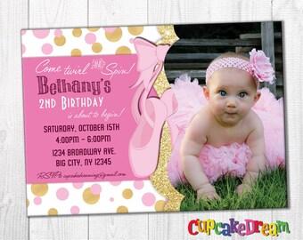 Ballerina Birthday Invitation Ballet Party