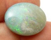 Black Opal Cabochon 18x14 Oval Lightning Ridge Australia Solid Boulder Opal Rare unique gemstone