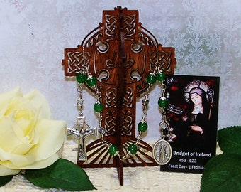 Unbreakable Catholic Chaplet of St. Bridget of Ireland - Patron Saint of Infants, Midwives, Ireland, Sailors and Poultry & Dairy Farmers