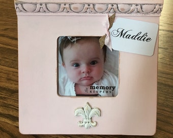 Personalized Baby Picture Frame, Wall Letters, Newborn Gift, Baby Shower, Birth Announcement, Baptism Gift, Christening, Custom Nursery Art