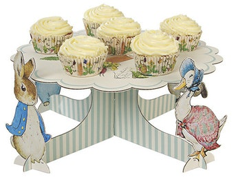 Peter Rabbit Cake Plate Beatrix Potter Easter birthday, baby shower Limited quantities
