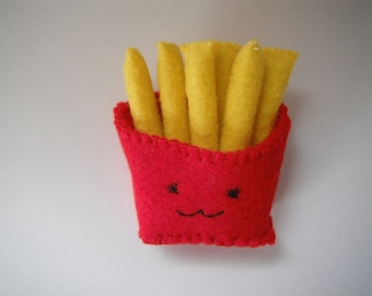 French Fries Brooch / Handmade Jewelry / felt fries brooch / pin / accessories