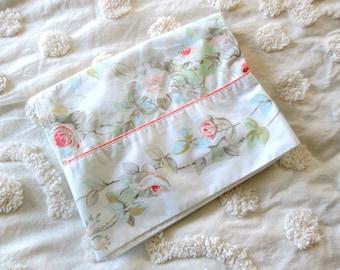 Vintage Floral Pillowcase by Martex