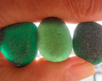 Seaham Greens - Beautiful English Sea Glass - Free Shipping (4852)