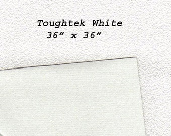 Toughtek Non slip White Fabric 36 by 36 inches