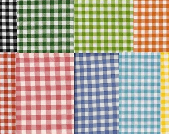 Gingham Check Oilcloth, Full Bolt 12 Yards